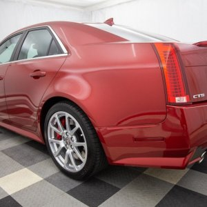 2014 Cadillac CTS-V Sedan in Red Obsession Tintcoat