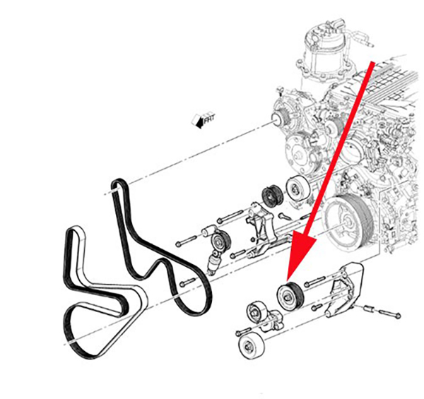 2017 Cadillac CTS-V: Supercharger Idler Pulley Sounds