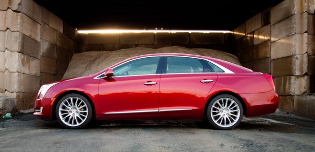 Side profile of the 2015 Cadillac XTS VSport