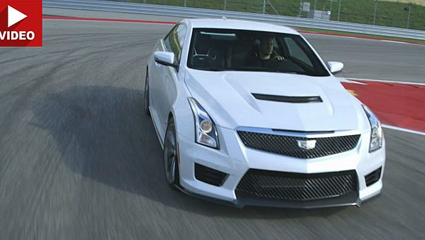 Video: Motor Trend Reviews 2016 Cadillac ATS-V Assault On BMW