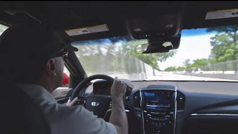 Ride With Andy Pilgrim As He Drives A 2015 ATS-V Around Belle Isle's Street Course