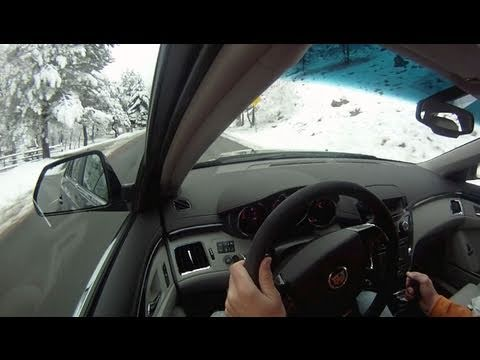 2011 Cadillac supercharged CTS-V Wagon: Raw & Unleashed in the snowy Colorado Mountains