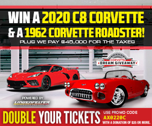 Double your tickets and win both Corvettes!