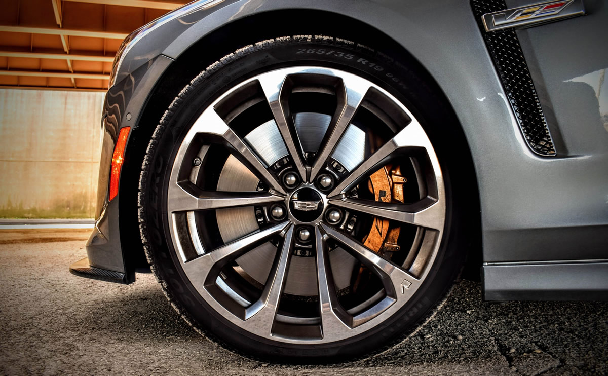 Product reviews and evaluations on Cadillac V-Series brakes and related components.